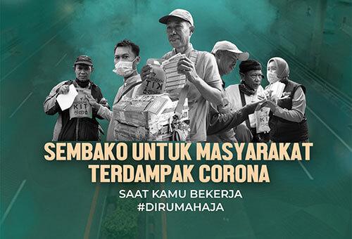 Sembako Untuk Masyarakat Terdampak Corona