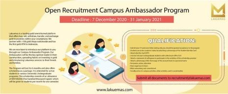 Lakuemas Buka Program Campus Ambassador untuk Universitas Pilihan