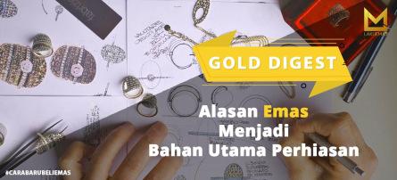 4 Alasan Emas Menjadi Bahan Utama Perhiasan