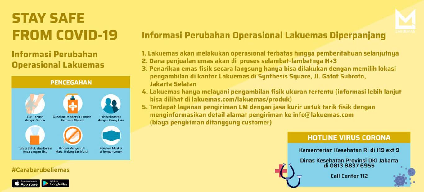 Informasi perubahan jam operasional lakuemas