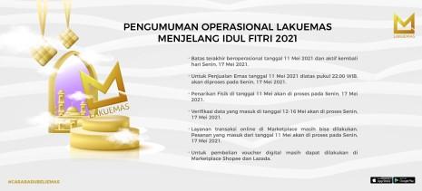 PENGUMUMAN OPERASIONAL LAKUEMAS MENJELANG IDUL FITRI 2021